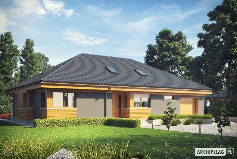 Projekt domu Gabriel G1 MULTI-COMFORT - wizualizacja frontowa