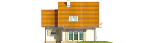 Projekt domu Śnieżynka G1 - elewacja tylna