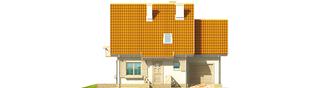 Projekt domu Śnieżynka G1 - elewacja frontowa