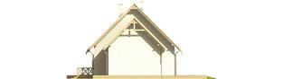 Projekt domu Śnieżynka G1 - elewacja prawa