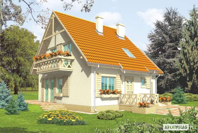 Projekt domu Śnieżynka G1 - wizualizacja frontowa