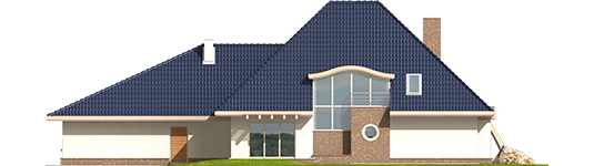 Filip - Projekt domu Filip G2 - elewacja tylna