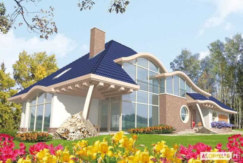 Projekt domu Filip G2 - wizualizacja frontowa