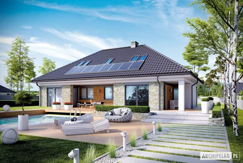 Projekt domu Magnus II G2 - Projekty domów ARCHIPELAG - Magnus II G2 - wizualizacja ogrodowa