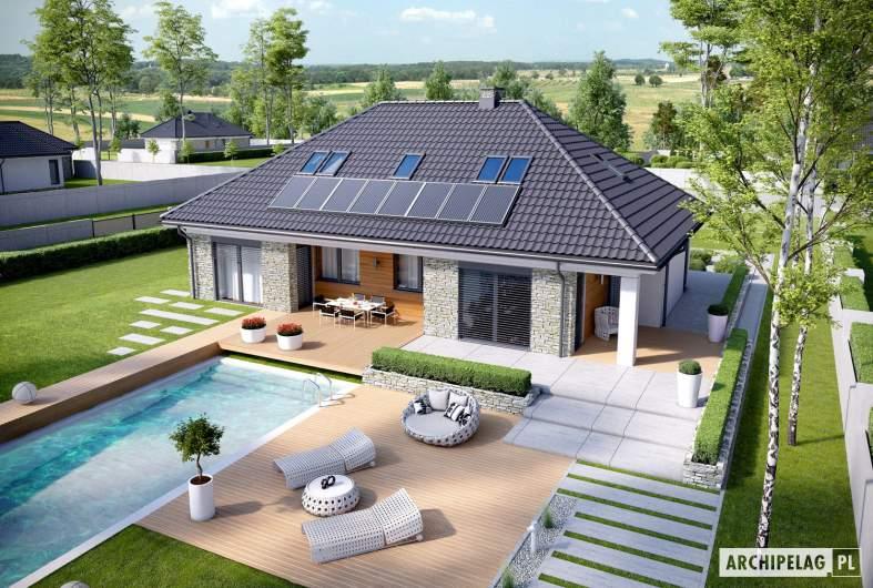 Projekt domu Magnus II G2 - Projekty domów ARCHIPELAG - Magnus II G2 - widok z góry