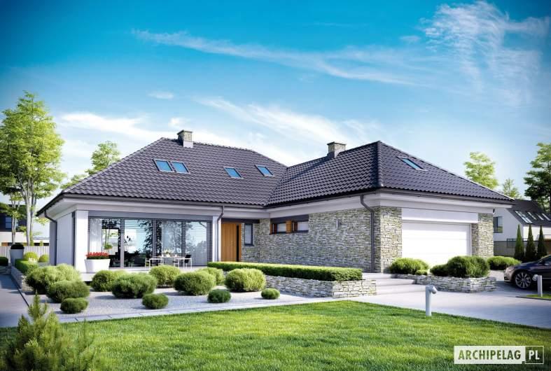 Projekt domu Magnus II G2 - Projekty domów ARCHIPELAG - Magnus II G2 - wizualizacja frontowa