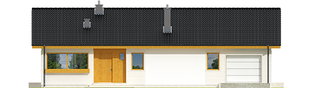 Projekt domu Eryk II G1 - elewacja frontowa