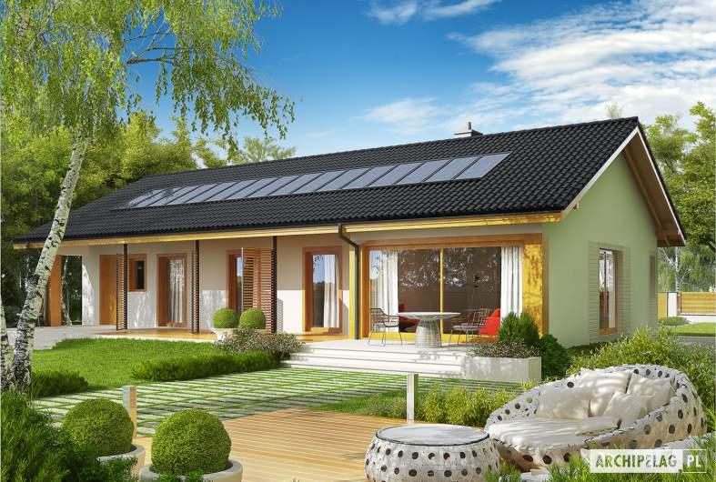 Projekt domu Eryk II G1 - wizualizacja ogrodowa