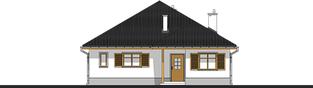 Projekt domu Wiktoria - elewacja frontowa