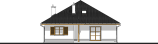 Projekt domu Wiktoria - elewacja tylna
