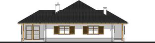 Projekt domu Wiktoria - elewacja lewa
