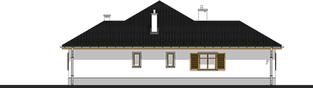Projekt domu Wiktoria - elewacja prawa