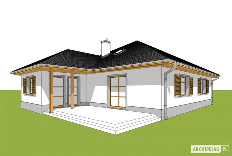 Projekt domu Wiktoria - wizualizacja ogrodowa