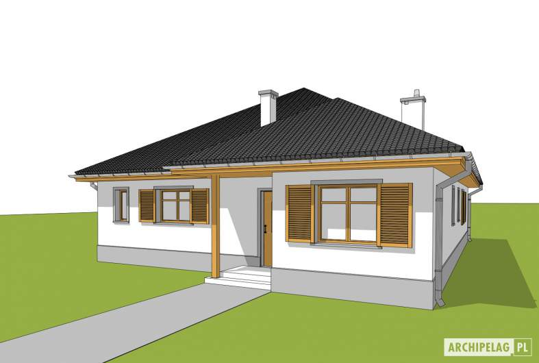 Projekt domu Wiktoria - wizualizacja frontowa