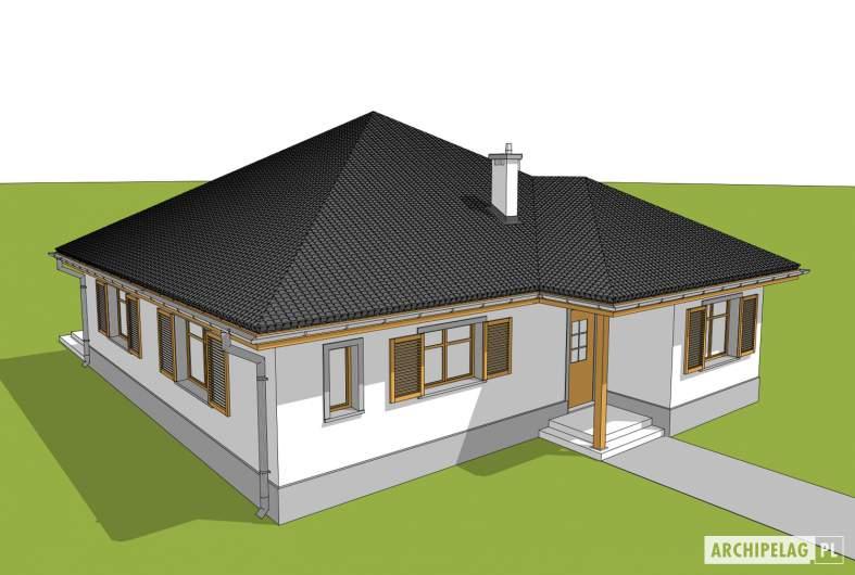 Projekt domu Wiktoria - widok z góry
