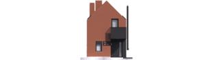 Projekt domu Moniczka II (wersja C) - elewacja frontowa