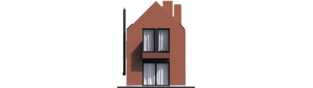 Projekt domu Moniczka II (wersja C) - elewacja tylna