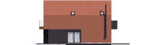 Projekt domu Moniczka II (wersja C) - elewacja prawa