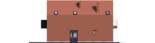 Projekt domu Moniczka II (wersja C) - elewacja lewa