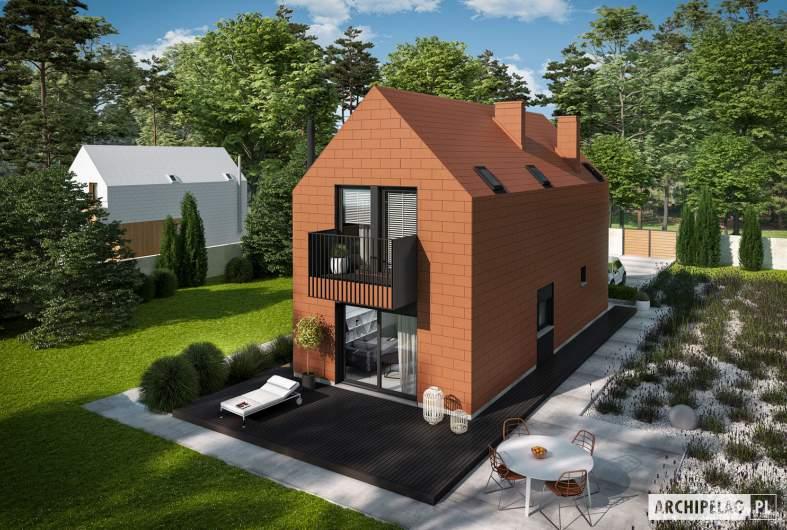 Projekt domu Moniczka II (wersja C) - widok z góry