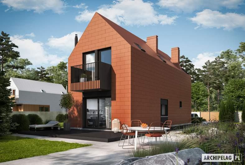 Projekt domu Moniczka II (wersja C) - wizualizacja ogrodowa