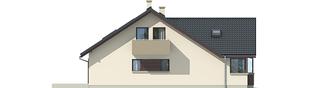 Projekt domu Malena G1 (wersja A) - elewacja lewa