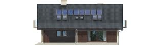 Projekt domu Malena G1 (wersja A) - elewacja tylna