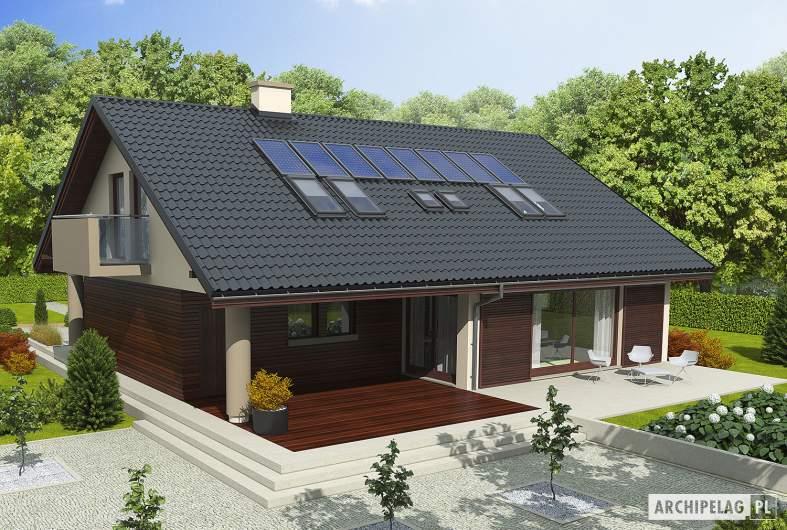 Projekt domu Malena G1 (wersja A) - wizualizacja frontowa