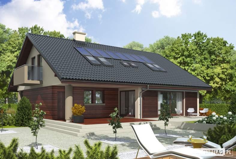 Projekt domu Malena G1 (wersja A) - wizualizacja ogrodowa