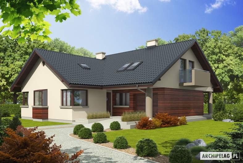 Projekt domu Malena G1 (wersja A) - widok z góry