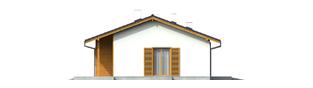 Projekt domu Manuela - elewacja prawa