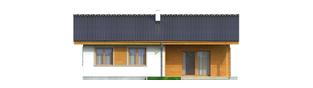 Projekt domu Manuela - elewacja tylna