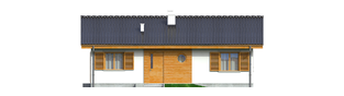 Projekt domu Manuela - elewacja frontowa