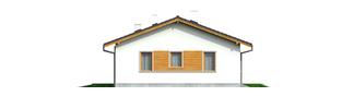 Projekt domu Manuela - elewacja lewa
