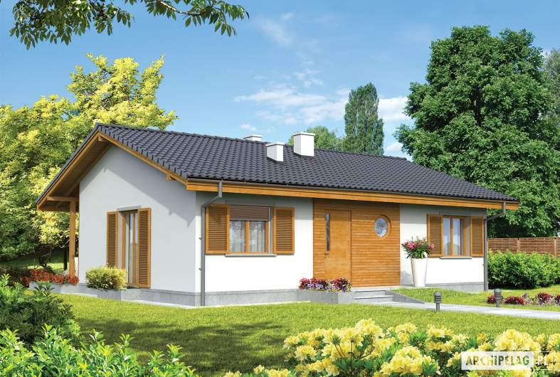 Projekt domu Manuela - wizualizacja frontowa