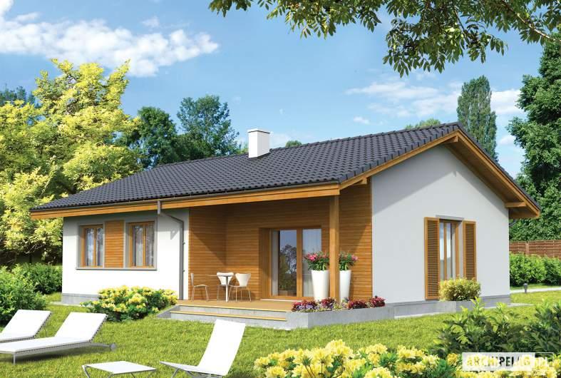 Projekt domu Manuela - wizualizacja ogrodowa