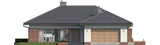 Projekt domu Dominik II G2 (wersja B) - elewacja frontowa