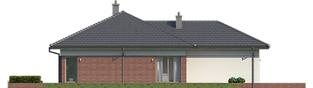 Projekt domu Dominik II G2 (wersja B) - elewacja lewa