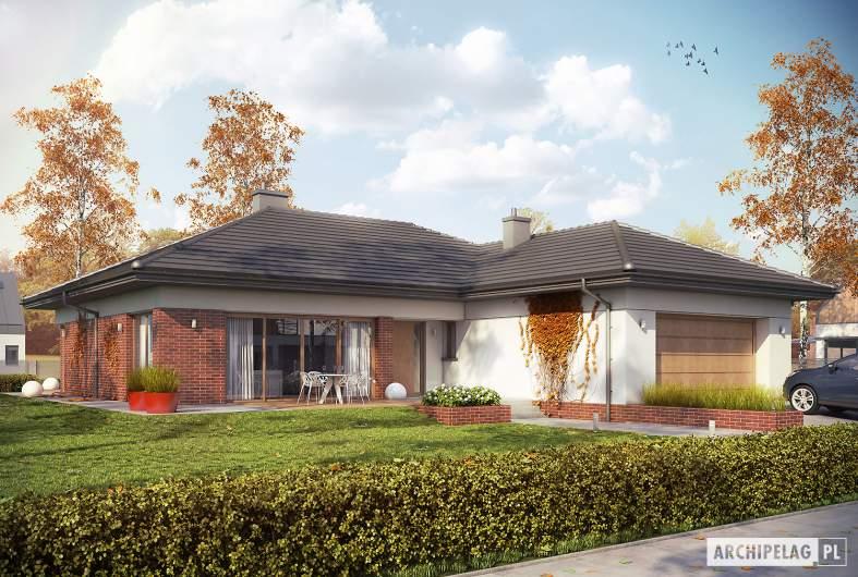Projekt domu Dominik II G2 (wersja B) - wizualizacja frontowa
