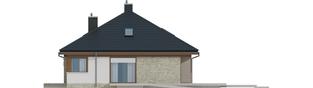 Projekt domu Flo II MULTI-COMFORT - elewacja prawa