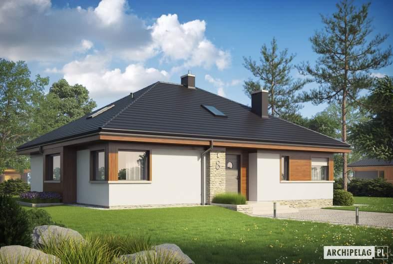 Projekt domu Flo II MULTI-COMFORT - wizualizacja frontowa