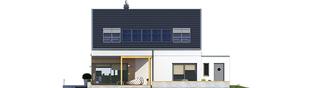 Projekt domu Edgar II G2 ENERGO PLUS - elewacja tylna