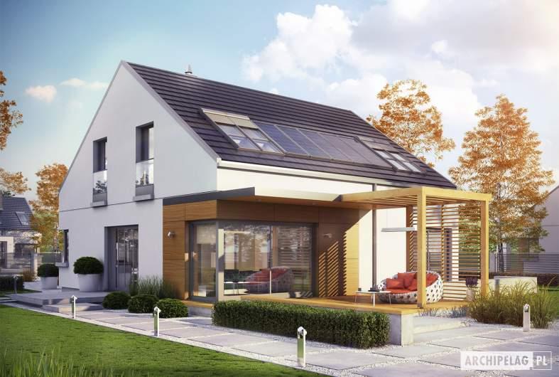 Projekt domu Edgar II G2 ENERGO PLUS - wizualizacja ogrodowa