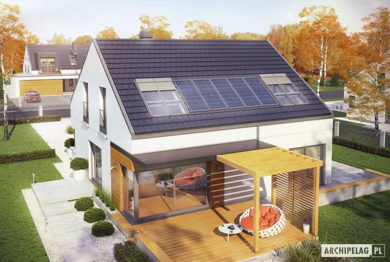 Projekt domu Edgar II G2 ENERGO PLUS - widok z góry