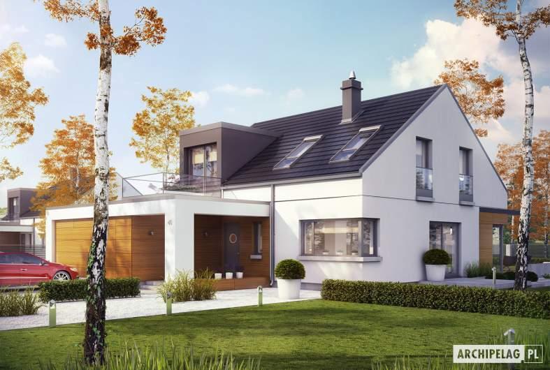 Projekt domu Edgar II G2 ENERGO PLUS - wizualizacja frontowa