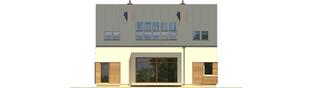 Projekt domu EX 9 G1 (wersja A) ENERGO PLUS - elewacja tylna