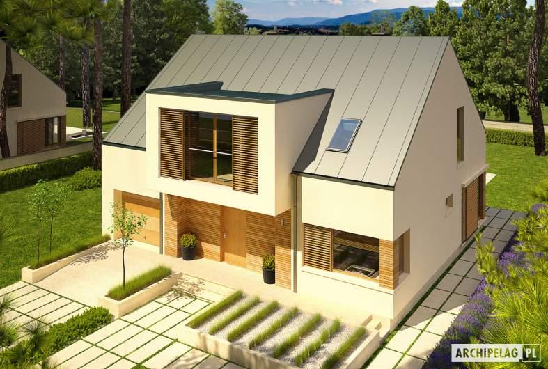 Projekt domu EX 9 G1 (wersja A) - widok z góry