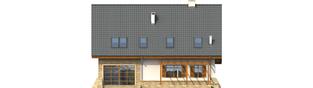 Projekt domu Anastazja G1 - elewacja tylna
