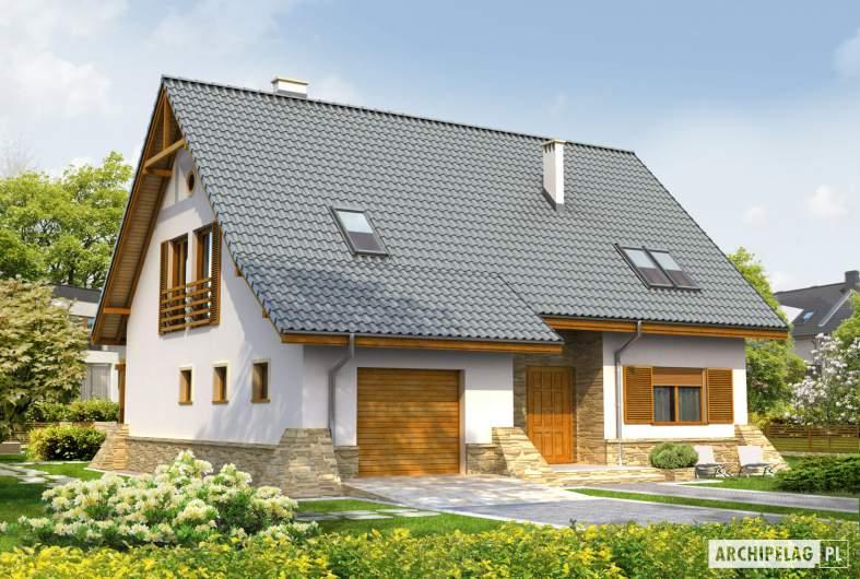 Projekt domu Anastazja G1 - wizualizacja frontowa