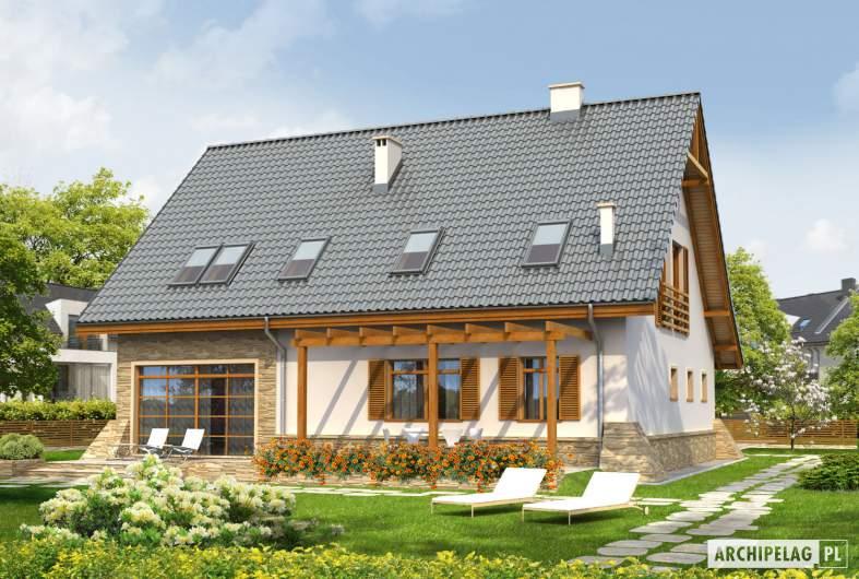 Projekt domu Anastazja G1 - wizualizacja ogrodowa